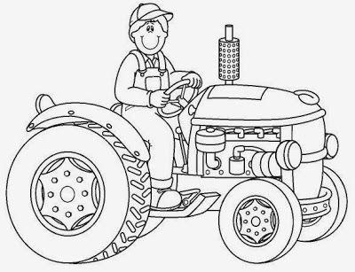 Maestra De Primaria Dibujos De Oficios Para Colorear Profesiones Ausmalbilder Ausmalbilder Traktor Traktor