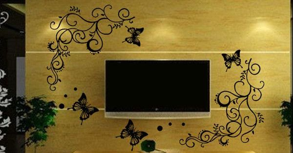 erfly Floral Decorative/Wall Stickers Home Decor For House ... on italy furniture, spain furniture, balinese furniture, cameroon furniture, teak root furniture, british virgin island furniture, thailand furniture, antique furniture, brisbane furniture, haiti furniture, guyana rattan furniture, bali furniture, middle eastern furniture, china's furniture, brunei furniture, coolest wood furniture, bedroom furniture, japan furniture, iceland furniture, netherlands furniture,