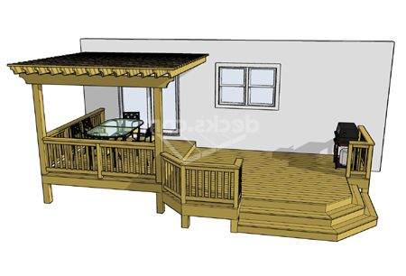 Free Deck Plan 2lm2614p10 Free Deck Plans Building A Deck Decks Backyard