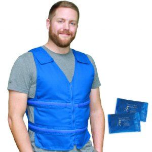 Adjustable Zipper Cooling Vest With 5 12 4 5 X 6 Kool Max