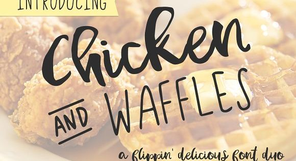 Chicken and Waffles Brush Script by BeckMcCormick on @creativemarket