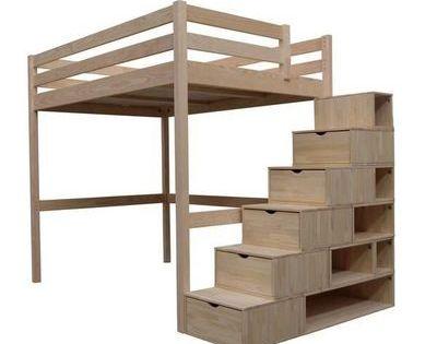 abc meubles cama alta abc meubles lit mezzanine sylvia 140x200 escalier cube pinteres. Black Bedroom Furniture Sets. Home Design Ideas