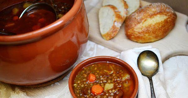 Lentejas Con Chorizo Spanish Lentil Soup Recipe Yummly Recipe Chorizo Spanish Lentil Soup Recipe Lentil Soup Recipes