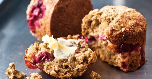 brown sugar cranberry oat muffins - nothing but goodness! recipes baking food