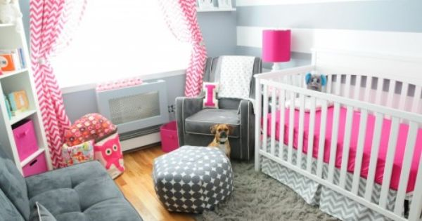 Isabella Pink & Gray Nursery (future baby girl room)
