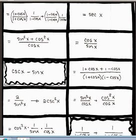 I M On My Quest To Try Different Things For The Trigonometric Identities Unit They Explored Last Class And High School Math Lessons Math Teacher Math School
