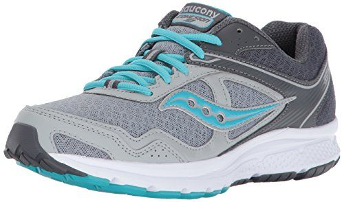 Saucony Women S Cohesion 10 Running Shoe Grey Blue 10 Medium Us