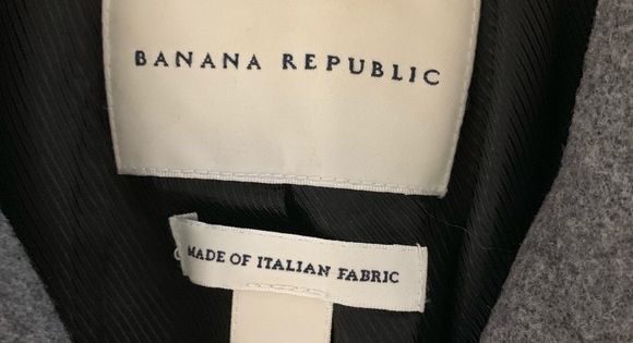 Banana Republic Italian Fabric Button Belted Coat Belted Coat