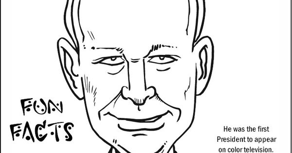 Dwight Eisenhower Coloring Page