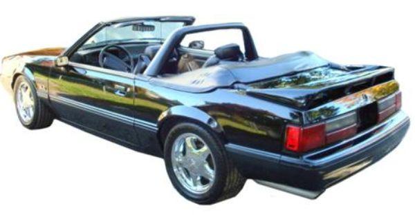 1990 93 Mustang Black Vinyl Light Bar At Lrs Free Shipping Mustang Convertible Fox Body Mustang 93 Mustang