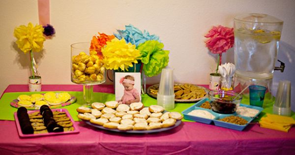 Bright Fun Baby Shower For A Small Intimate Gathering