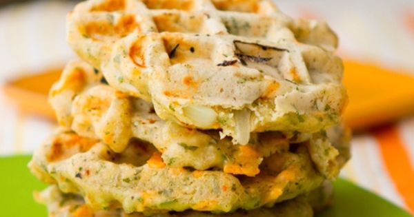 Savory Cheezy Herbed Waffles | Cafe Dishes | Pinterest | Waffles ...