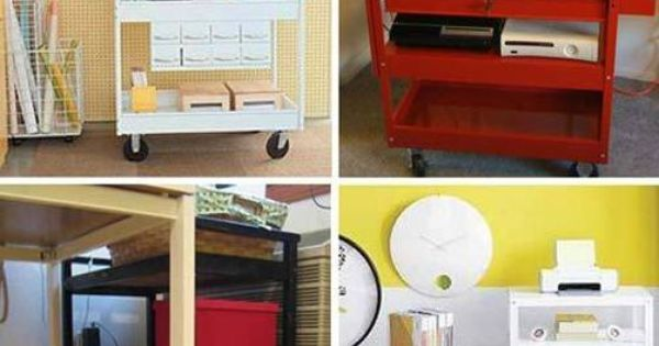 Make A Rolling Office Cart For Your Peripherals Kitchen