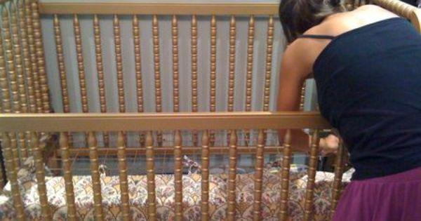 Smart Way To Make Your Crib Skirt Length Adjustable For My Grandson Andra Meyer Crib Skirts Cribs Diy Crib