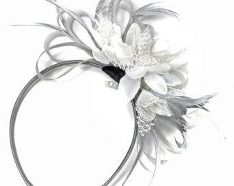 cream and black fascinator with headband Ascot Races weddings