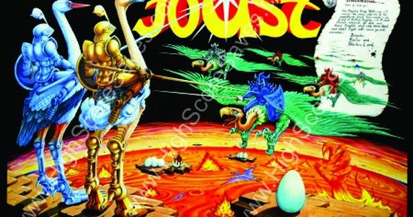 Joust Reproduction Arcade Poster Video Game Jobs Video Game Posters Arcade