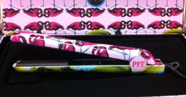 Pyt Flat Iron Straightenenr Banana Flamingo By Pyt 42 80 Dual Voltage Floating Plates Adjustable Temp 140 450f Floating Plates Flat Iron Ceramic Plates