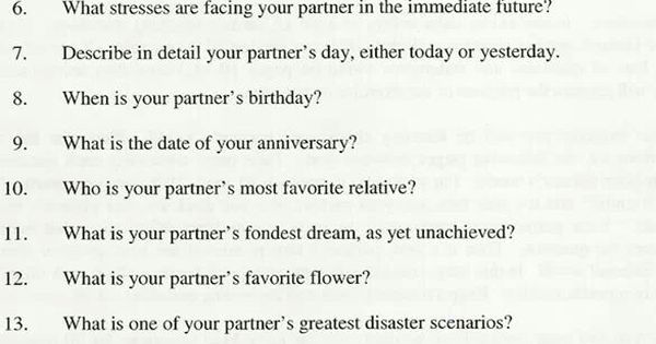 How Well Do You Know Your Partner Quiz: Gottman's Love Map Quiz: How Well Do You Know Your Partner