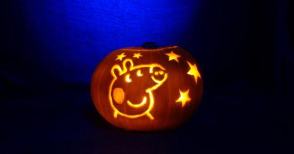 Peppa Pig pumpkin. Audrey loves Peppa!!
