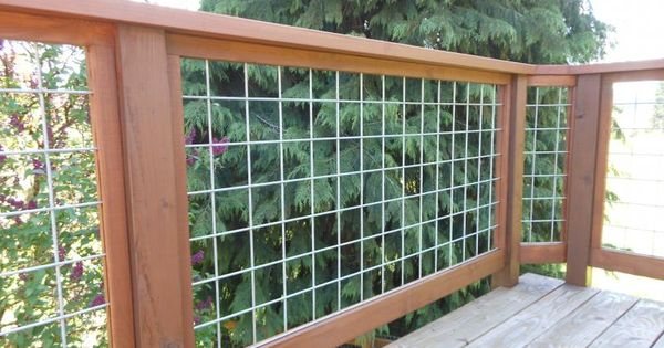 hog wire deck railing | home ideas | Pinterest | Deck ...
