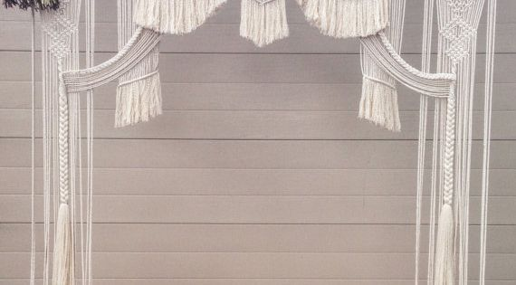 d cor de mariage macram tenture murale fen tre suspendus wedding pinterest d cor de. Black Bedroom Furniture Sets. Home Design Ideas