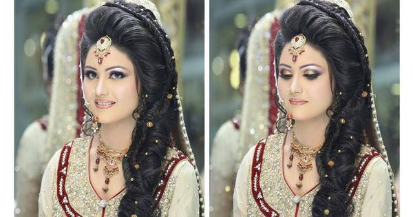 Pakistani Bridal Hairstyles 2014 2015 For Walima Party And: KASHEE'S BEAUTY PARLOR'S MOST BREATHTAKING BRIDAL MAKE-UP