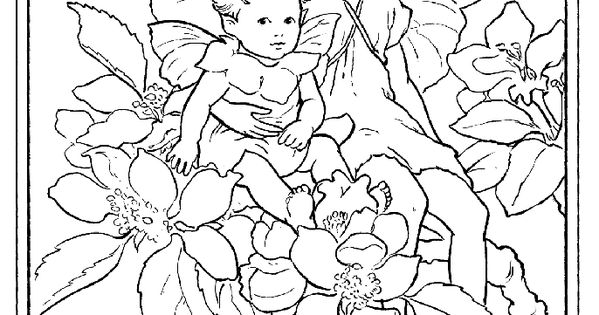 Fairy printable coloring page
