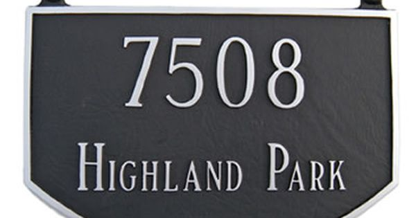Two Sided Prestige Arch Address Plaque Hanging Address Plaque