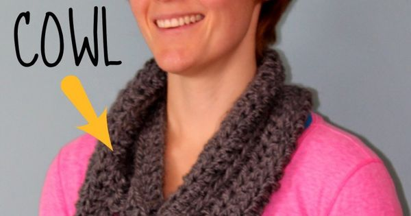 Crochet Beginner 1 Hour Cowl Need: 1 ball of chunky yarn |