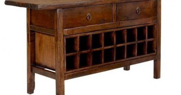 Vintage Chinese Wine Console Cabinet Asian Wine Racks Wood Bar Stools Wine Cabinets Console Cabinet