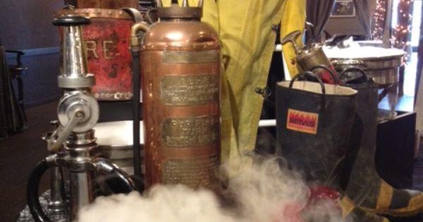 Buffet centerpiece for fireman banquet fire department