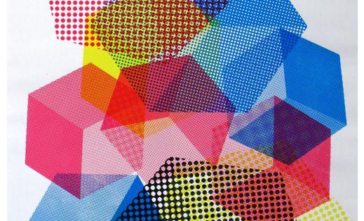 Color Geometric Art Moiré patterns - Olivia Sautreuil