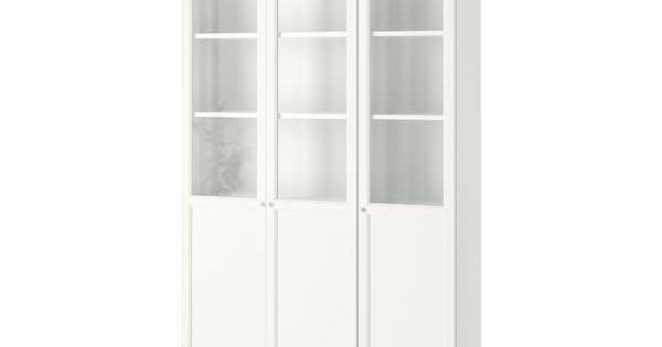 Billy Oxberg Libreria Blanco Vidrio 120x30x237 Cm Ikea Billy Oxberg Bucherschrank Mit Glasturen Glasschrankturen