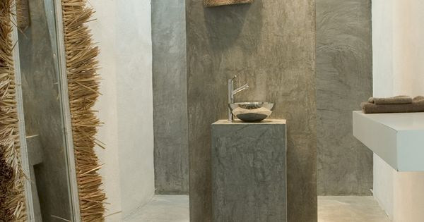 Ba o de cemento pulido truenitos pinterest - Bano cemento pulido ...