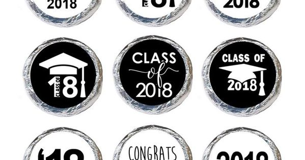 Set of 30 Class of 2019 Graduation Sticker Labels Girl Graduate Envelope Seal Card Party Favors
