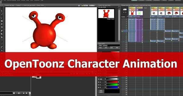 Tutorial OpenToonz Character Animation Introduction