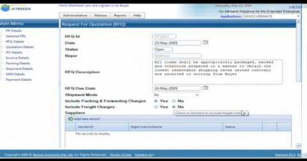 Creating Request For Quotation Rfq Buyer Quotations Youtube Request