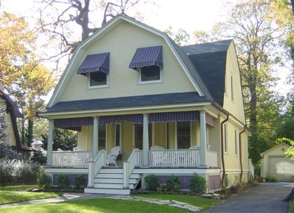 Dutch colonial homes body color chosen from an historic sears roebuck paint catalogue for Colonial revival stone exterior paint