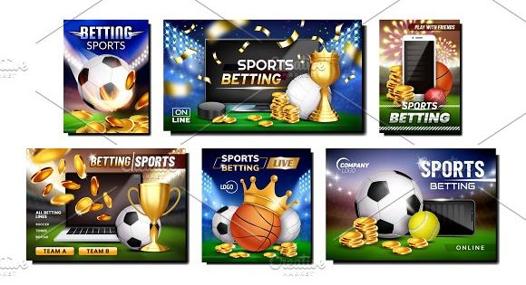 Betting Sports Promotional Posters Betting Banner Advertising Book Maker