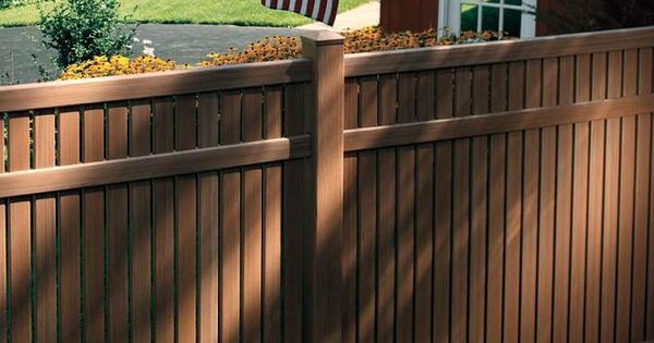 Brown Vinyl Fence As You Can See From The Image Above
