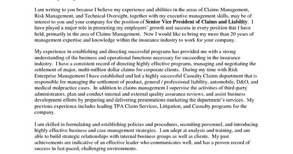 executive example of a cover letter example of a cover letter