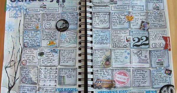Calendar journaling.....5 minutes before bed. I want to try this! I love