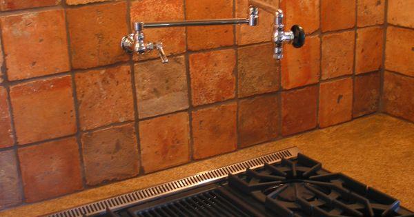antique terra cotta backsplash tile and inspirational
