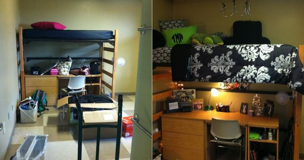 Great before-and-after of an Ole Miss dorm room! | wcu room ...