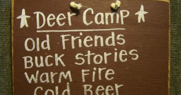 Deer Camp - Funny Wood Sign-Deer Camp Sign, Hunt camp sign, funny