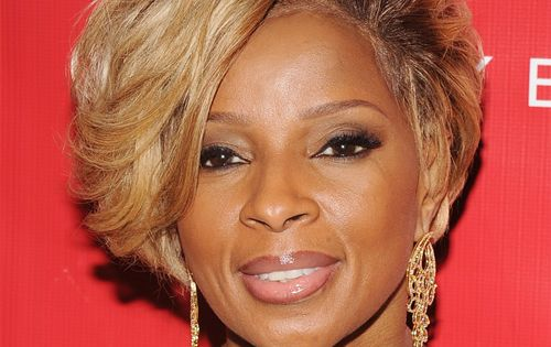 Mary J Blige Short Straight Formal Hairstyle With Side
