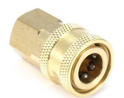 Details About Pressure Washer 1 4 Female Npt Brass Quick Connect Adapter Coupler For Cleaning With Images Pressure Washer Cleaning Washer