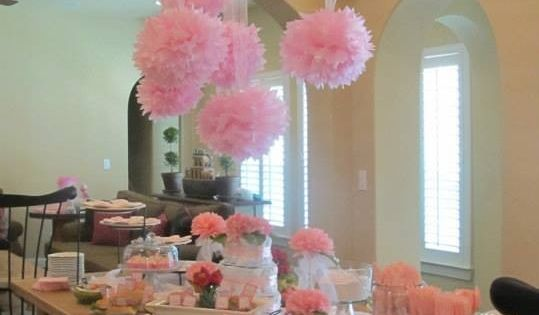Tissue Paper Flowers Hanging From Ceiling Party Decor