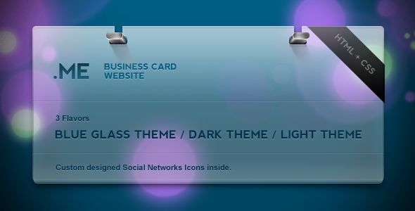 Dotme Business Card Theme Social Network Icons Website Template Cards