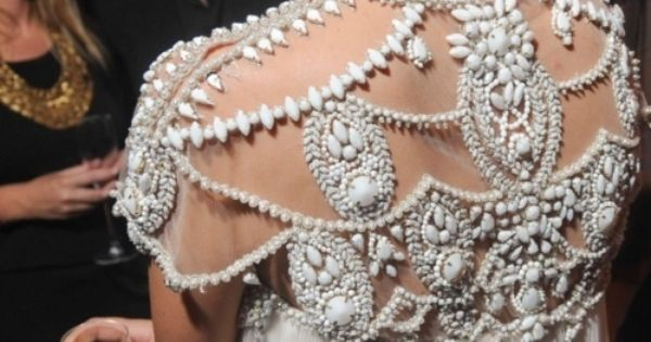 Beaded dress - haute couture.
